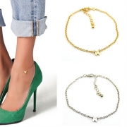 Fashion Silver-tone/Gold-tone Butterfly Ankle Chain