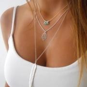 Collier/Bijoux / Accessoires Pour Femmes Chic à la Mode Multi-Rangs avec un Pendentif de Feuille