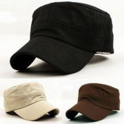 Fashion Solid Color Sunscreen Flat-top Cap