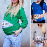 Pull Doux Stylé à la Mode Mignon à Imprimés Pour les Femmes Enceintes