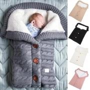 Sac de Couchage Doux Mignon à la Mode en Tricot Pour les Bébés