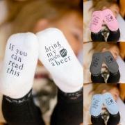 Chaussettes Douces Mignonnes à la Mode à Imprimés Pour les Bébés(2-Paires)