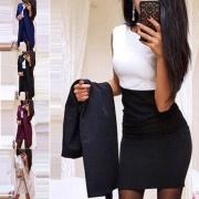Deux-Pièces Doux Elégant à la Mode :Gilet à Manches Longues + Robe Sans Manches(Un style léger)