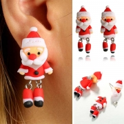Boucles d'Oreilles de Noël Douces Mignonnes à la Mode avec un Design de Papa Noël