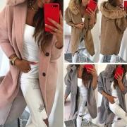 Manteau/Veste Douce Stylée à la Mode à Capuche avec les Fourrures Synthétiques