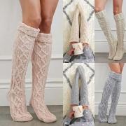Chaussettes Longues Douces à la Mode en Tricot