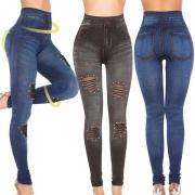 Leggings Moulant Stylé à la Mode Sexy Troué Ajouré à la Taille Haute