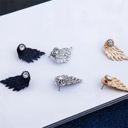 Boucles d'Oreilles Stylées Chic Rétro avec un Design d'Ailes d'Ange