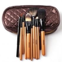 Maquillage professionnel 10pcs Beauté Cosmétique Pinceaux Kit avec étui