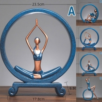 Creative Style Yoga Character Shaped Decoration Ornament