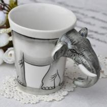 Nouveauté peint à la main d'éléphant Tasse à café