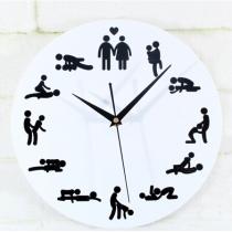 24 heures Sex Position Horloge murale