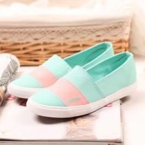 Contraste des couleurs plates Toile Glissement Sneaker Mocassins