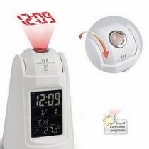 Rétro-éclairage LED Sensor Sound Control Parler de réveil de projection avec