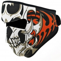 Coupe-vent réversible Noir tribal de crâne classique en néoprène Demi Masque Masque Chapeaux Moto VTT cycliste Cyclisme Vélo