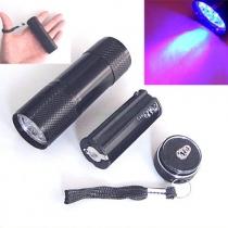 UV Ultra Violet Blacklight 9 LED lampe torche de lumière