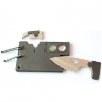 Credit Card Companion with Serrated Blade, Lens and Compass