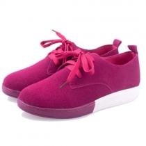 Doux Loisirs lacets avant de couleur de sucrerie chaussures