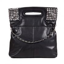 Style punk Rivet pure sac d'épaule de sac à main de couleur