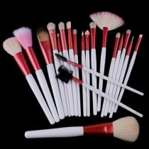 Professionnels de beauté 20 PCS Pinceaux de maquillage cosmétiques Set avec Pink Pouch