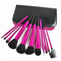 Profession Belles beauté Rose Rouge 11 PCS Pinceaux Set avec sac de caisse