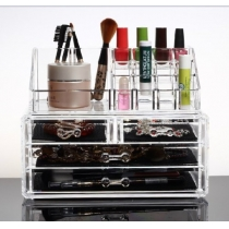 Maquillage Organisateur de luxe Cosmétiques acrylique Clear Case stockage Supports d'insert Box