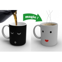 Magic Morning  Face  Cut Ceramic Gift Coffee Tea Wake-up Face Cup Mug