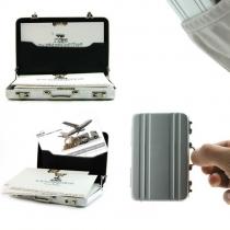 Mini-Boîte Porte-Documents Mignon Délicat Cool Inventif de Carte de Visite/Monnaie/Carte de Crédit en Aluminium