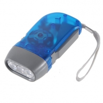 LED Hand Press Pas de batterie Vent jusqu'à Crank camping en plein air