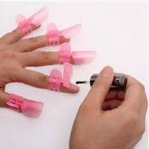 10 PCS des Protecteurs d'Ongles Rose Clapets/Pinces pour les doigts Pour Eviter d'Abîmer une Manucure Toute Fraîche