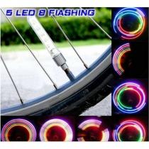 5 Bouchons De Valves Lumineux à LED avec Piles Incluses Multicolores Scintillants Inventif