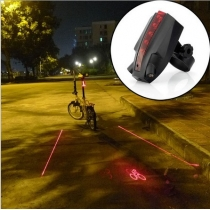 LED de vélo Laser Feu arrière de vélo de lumière arrière Logo Projection