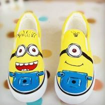 Despicable Me Minion peinture jaune Slip On Sneaker Mocassins