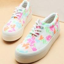 Fleurs Rétro style européen Chaussures de toile d'impression