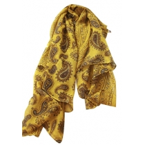 Folk Style Chic Paisley Print Scarf