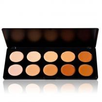 Sombra de Ojos de 10 Colores de Maquillaje Profesional de Ocultador