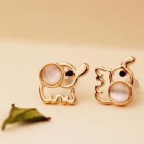 Clous d'Oreilles Chic à la Mode dans une Forme d'Eléphant