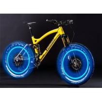 Flash LED de roue de pneu de couvercle de valve de lumière pour vélo de voiture vélo Motorbicycle lumière de roue Tire lumière bleu-vert-COLORÉ (Pack de 4)