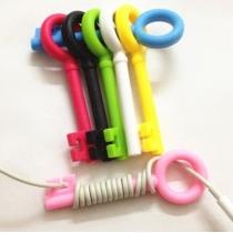 Cable Tie Cord clé 5-PSC mignon Organisateur enveloppe de l'écouteur Winder (couleur au hasard)