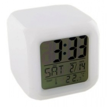 Glowing LED Color Mood Changing Digital Alarm Clock High Quality Practical