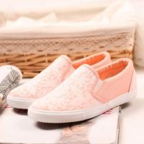 Couleur de sucrerie dentelle florale Slip On Sneaker Mocassins