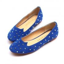 Chaussures Plates Mocassins Elégantes Cool Chic Décoration de Rivet dans une Forme de Chat