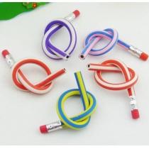 5x coloré magique Bendy flexible crayon souple Avec Eraser pour la rédaction Hot enfants