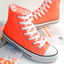 Couleur de sucrerie Souliers plat High Top