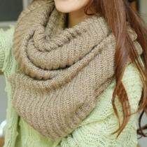 Chaud Loisirs simple Pure Color Knit Infinity Scarf Dernières femmes