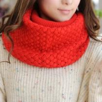Loisirs doux de couleur pleine Ouvrir Knit Infinity Scarf
