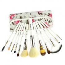Professionnels de cru 12 PCs maquillage pinceaux de maquillage de kit avec impression de fleur de poche