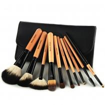 10 PCS brosse cosmétique de maquillage ensemble d'outils avec pochette noir