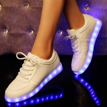 Sneakers Sportif Cool à la Mode Chic Colorés avec LED Rechargeable