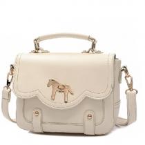 Retro Pony Pure Color Handbag Shoulder Bag Cross Body Bag